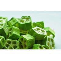 Buy quality Delicious Healthy Freeze Dried Food Vegetable Okra Slices Bulk at wholesale prices