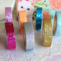 High Performance Water Base Acrylic Colorful printed Glitter Tape