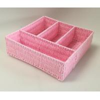 Buy cheap rope woven tray, 100% handwoven rectangle home storage basket with paper material,office storage box,storage bin product