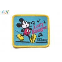 Buy cheap Twill Material Background Fabric Mickey Mouse Iron On Patches For Clothing product