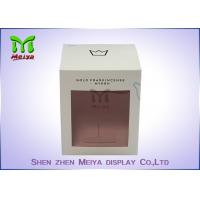Recycled C1s Crown Gift Packaging Boxes With Pvc Window , Two Sides Printing
