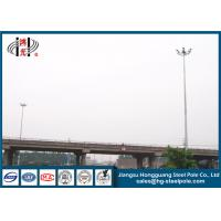 Buy cheap 28m Q345 Material Metal Light Pole Customized Carolina With Lifting Systems from wholesalers