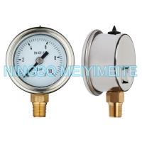 Buy cheap Stainless Hydraulic Pressure Gauge Roll Ring Bezel With Brass Internals product