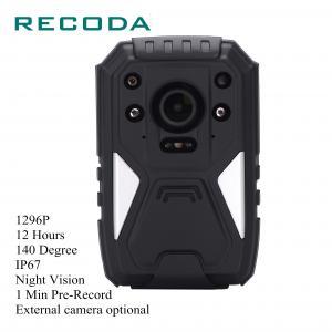 Buy cheap 1296P IP67 Waterproof Law Enforcement Body Worn Camera 8-11 Hours 1 Min Pre - from wholesalers