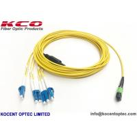 Buy cheap MPO/APC - LC/UPC 8fo Fiber Optic Patch Cord SM G657A LSZH Cover Customized from wholesalers