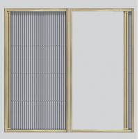 Buy cheap Floding screen window & door for sale with Aluminum frame and pleated screen mesh product