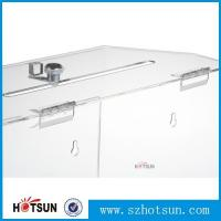 Buy cheap Innovative Wall Mount Donation Box with Lock and Key, Clear Acrylic Charity Box Donation product