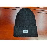 Buy cheap warm black wool or cotton customize woven label inner tape printing knitted boonies hats for winter product