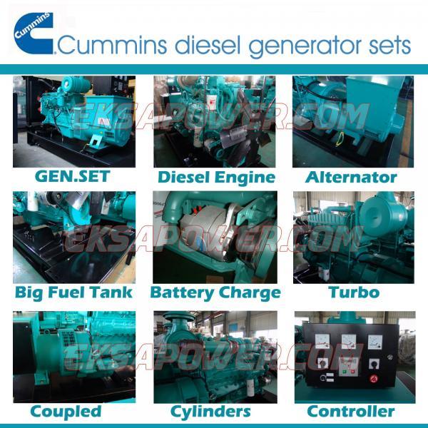 Global warranty 500KVA CUMMINS engine assemble diesel generator sets