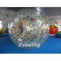 Color Dots Inflatable Zorb Ball , Grass Zorb Ball , Inflatable Human Hamster Ball Customized for Kids and Adults