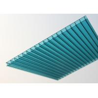 Buy cheap Lake Blue Polycarbonate Sheet , Embossed Hollow Polycarbonate Roof Panel product