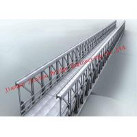 China Single Long Span Modular Steel Bridge Fabrication Hot Galvanized Painted Treatment on sale