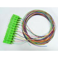 Buy cheap Single Model Pigtail Fiber Optic Cable 0.9mm Tight Buffer SC APC 12 Colors from wholesalers