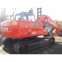 Used EX120-5 Hitachi 12 Tonne Excavator Japan No Oil Leak With 6 Cylinders