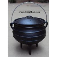 Buy quality Cast iron Potjie pot , Cast iron cauldrons. at wholesale prices