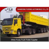 Buy cheap Square Shape 45 Tons Dump Semi Trailer With Hyva Hydraulic Lifting System product