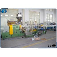 China PP PE PET Plastic Pelletizing Machine Double Screw Extruder Recycling Line High Effecient on sale