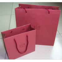 Buy cheap Pantone Color Print 210gsm Pink Specialty Paper Gift Bag With PP Handle For Jewelrys product