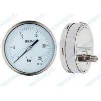 Buy cheap High precision welding pressure gauge 160mm with polish stainless steel case product