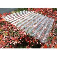 Buy cheap Clear Plastic Corrugated Polycarbonate Sheets 0.8 Mm-3.0mm Weather Resistance product