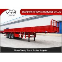 Buy cheap 50 Tons Capacity 40ft Flatbed Semi Trailer With Detachable Side Wall product