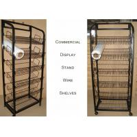 Buy cheap Mulitple Shelves KD Structure Wire Rack Display / Light Duty Wire Retail Display from wholesalers