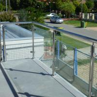 Buy cheap Outdoor Frameless Polish Stainless Steel Glass Balcony Railing Designs product