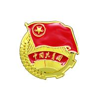 Buy cheap Attractive Graph Custom Metal Pin Badges Double Colors Plating ODM / OEM from wholesalers