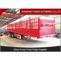 Buy cheap Customized 40ft flatbed drop side wall semi trailer for sale in Africa product