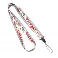 China Grey Polyester Heat Transfer Print Lanyard For Mobile Phone , USB on sale