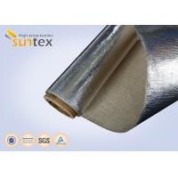 China 18 Micron Aluminum Foil Coated Heat Reflective Fabric Fiberglass Insulation Cover on sale