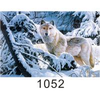 Buy cheap 0.6mm Thickness 3D Lenticular Images  ,  Advertising Poster 3D Wolf Picture product