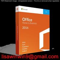 Buy cheap Mac Windows Office Home And Business 2016 , Office 2016 Home And Business Box product