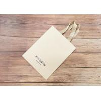 Buy cheap Handmade Luxury Kraft Shopping Bags With Matching Color Strong Silk Fabric Handle product