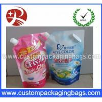 Buy quality Plastic Liquid Stand Up Pouches For Laundry Detergent With Spout at wholesale prices