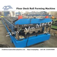 Buy quality 26 Forming Steps Floor Deck Roll Forming Machine With PLC Control Panel , 7.5KW Hydraulic Station at wholesale prices