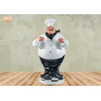 Buy cheap Antique Fat Chef Decor Polyresin Statue Figurine Resin Chef 2 Bottle Tabletop Wine Holder product