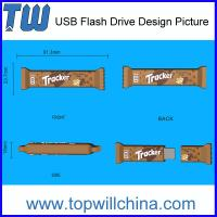 Promotion Custom USB Flash Drive Chocolate Bar Design Company Gift