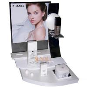 Buy cheap Plexiglass Cosmetic Makeup Organizer Retail POS Displays White Retail Ladder Shaped product