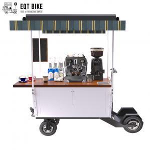 Buy cheap Street Vending Coffee Bike Cart 350W Metal Tricycle Coffee Cart product