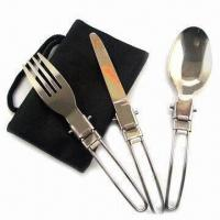 Buy cheap Cutlery Set for Picnic, Made of Stainless Steel product