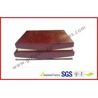 Leather Magnetic Box Customized Crocodile Leather Paper  Satin Covered Foam