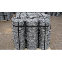 Buy quality Electro Hot Dip Galvanzied Barbed Metal Wire PVC Coated For Cattle Fence at wholesale prices