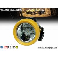 China 4000 Lux Brightness Gl2- A Led Cap Lamp , Perfessional Mining Cap Lights Waterproof on sale
