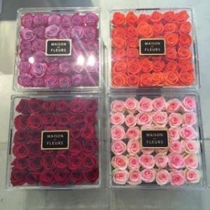 Buy cheap Beautiful transparent acrylic flower box,custom made display acrylic flower box product