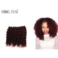 Buy cheap Unprocessed Water Wave Human Hair , Burgundy Deep Water Wave Hair Weave product