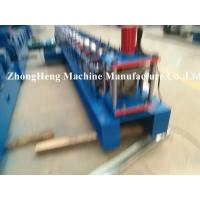 Buy cheap 0.4 - 0.6mm thickness Half Round Gutter Forming Machine for Metal Downspout PLC from wholesalers