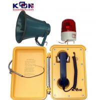Buy quality Waterproof Industrial Telephones Yellow With Loudspeaker And Beacon at wholesale prices