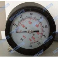 Buy cheap 4.5 Inch Solid Front Pressure Gauge With Stainless Steel Internals / Connector product