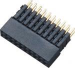 2.0mm Dual Row Female Header Connector H 6.35 180°DIP ADD Housing Signal transmission